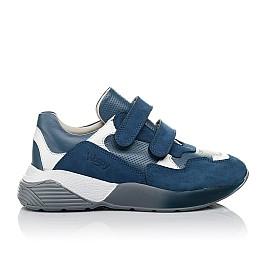 Детские кроссовки Woopy Orthopedic синие для мальчиков натуральный нубук размер 27-35 (4167) Фото 4