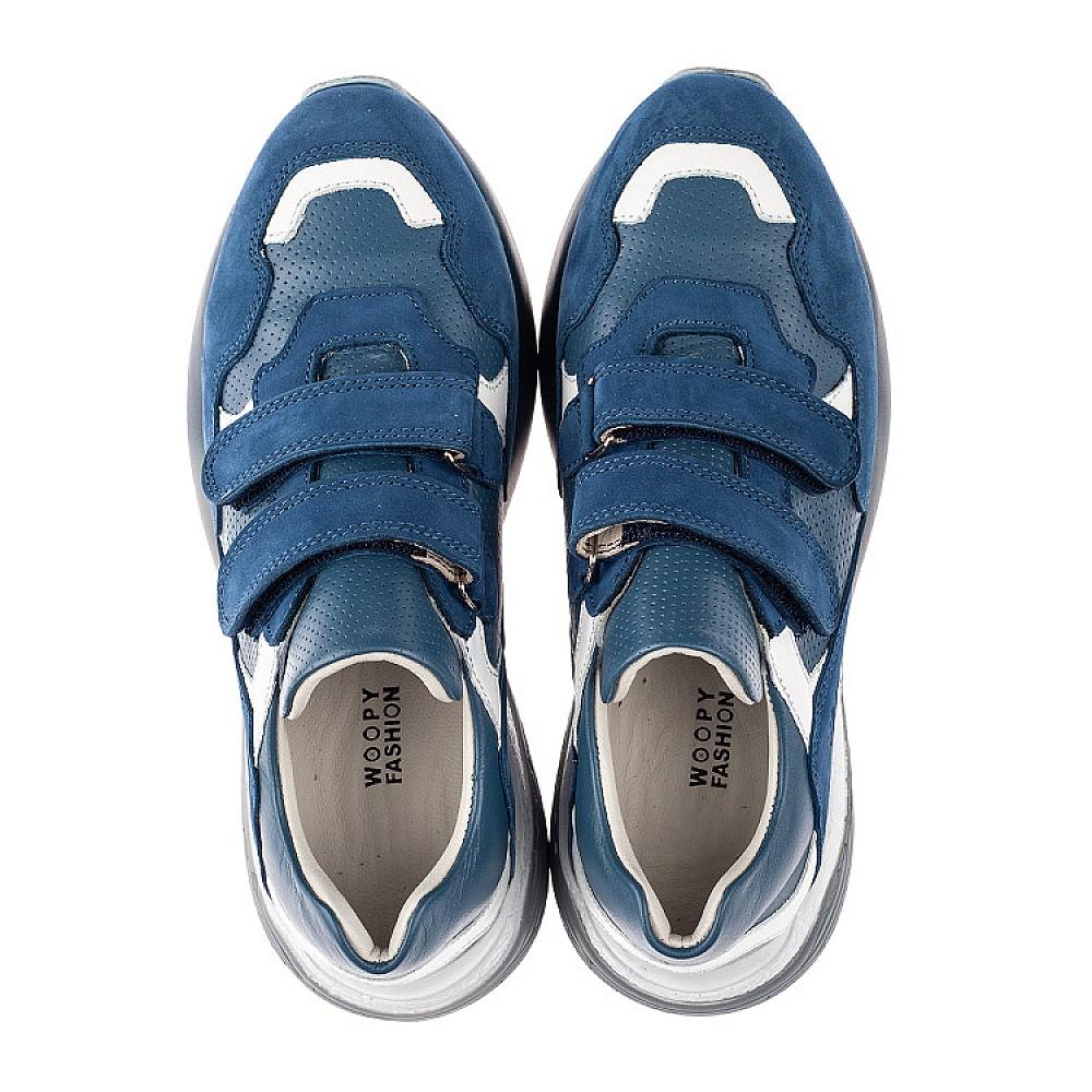 Детские кроссовки Woopy Orthopedic синие для мальчиков натуральный нубук размер 26-35 (4167) Фото 5
