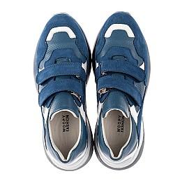Детские кроссовки Woopy Orthopedic синие для мальчиков натуральный нубук размер 27-35 (4167) Фото 5