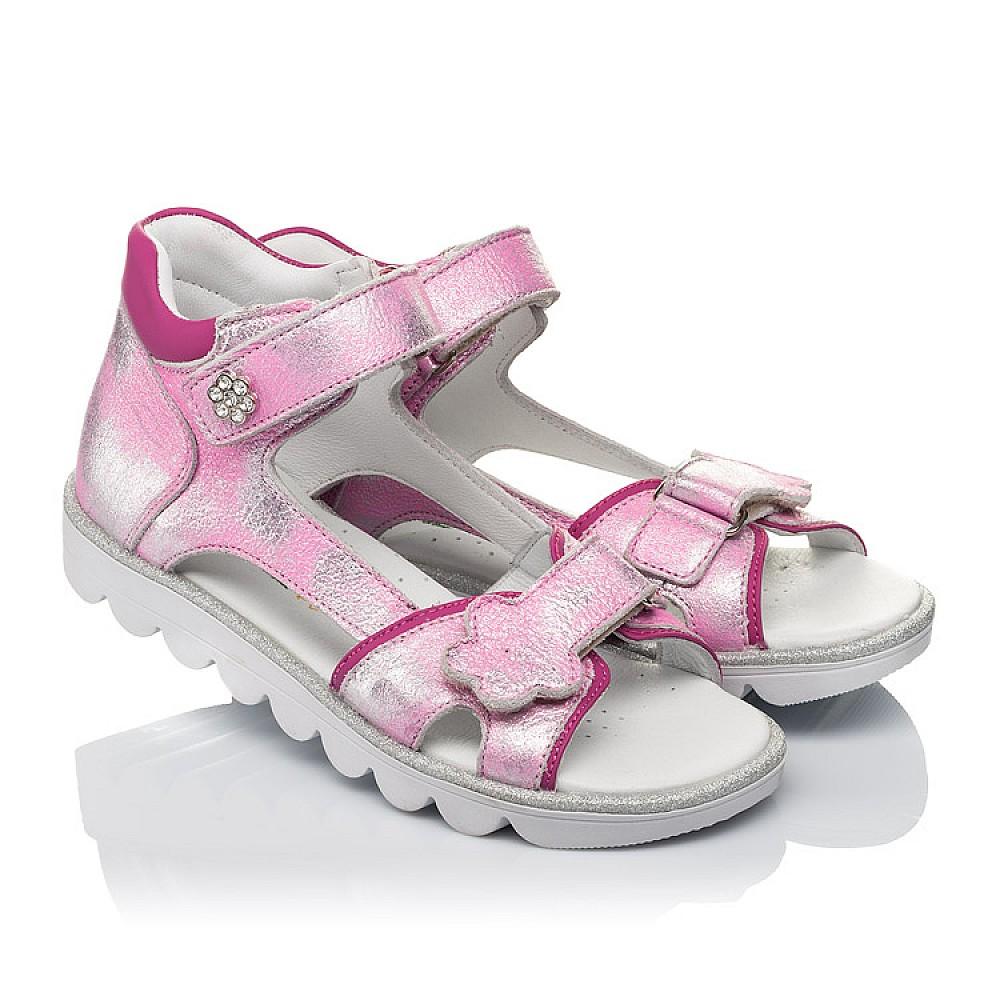 Детские босоножки Woopy Orthopedic розовые для девочек натуральная кожа размер 26-36 (4169) Фото 1