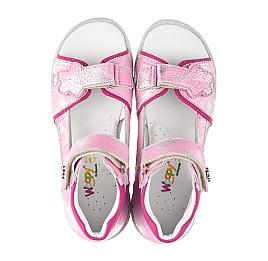 Детские босоножки Woopy Orthopedic розовые для девочек натуральная кожа размер 26-36 (4169) Фото 5