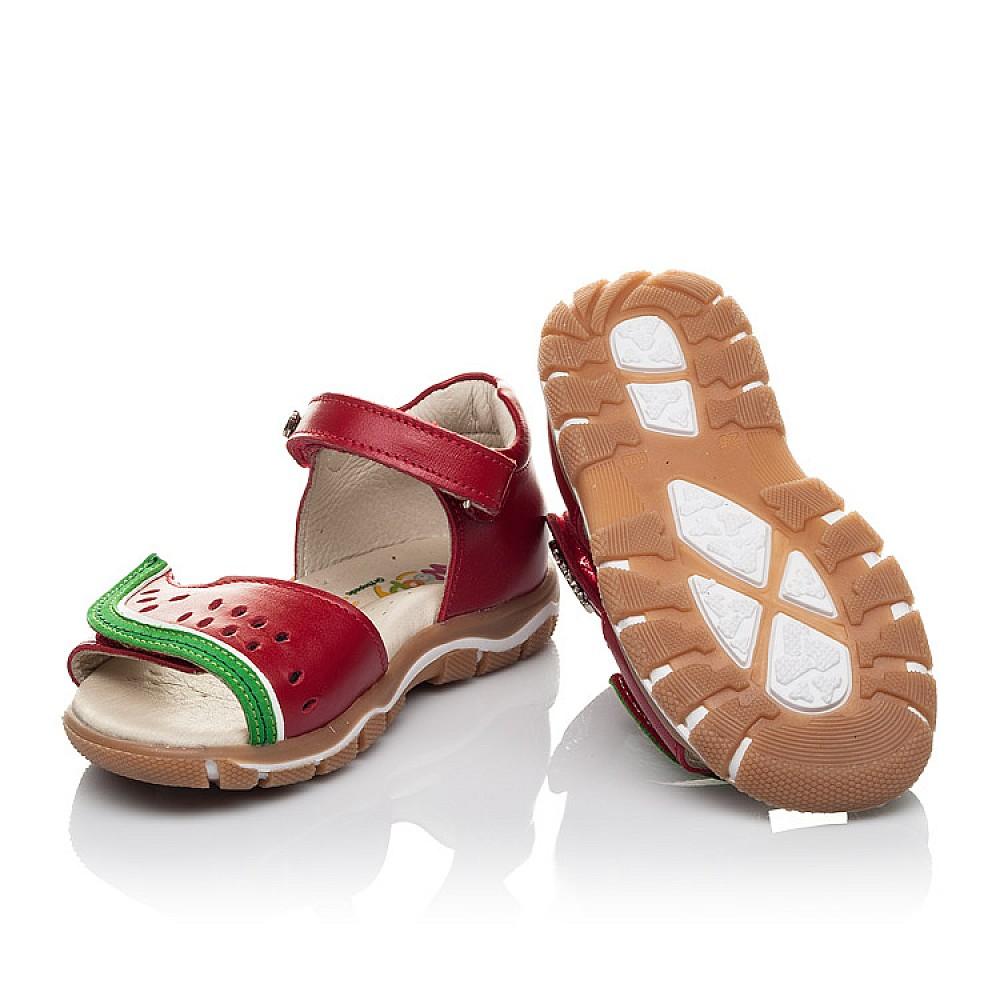 Детские босоножки Woopy Orthopedic красные для девочек натуральная кожа размер 21-26 (4170) Фото 2
