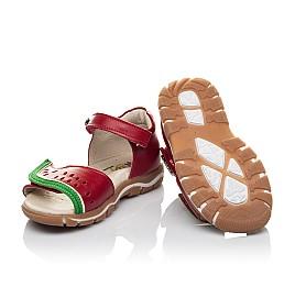 Детские босоножки Woopy Orthopedic красные для девочек натуральная кожа размер 21-30 (4170) Фото 2