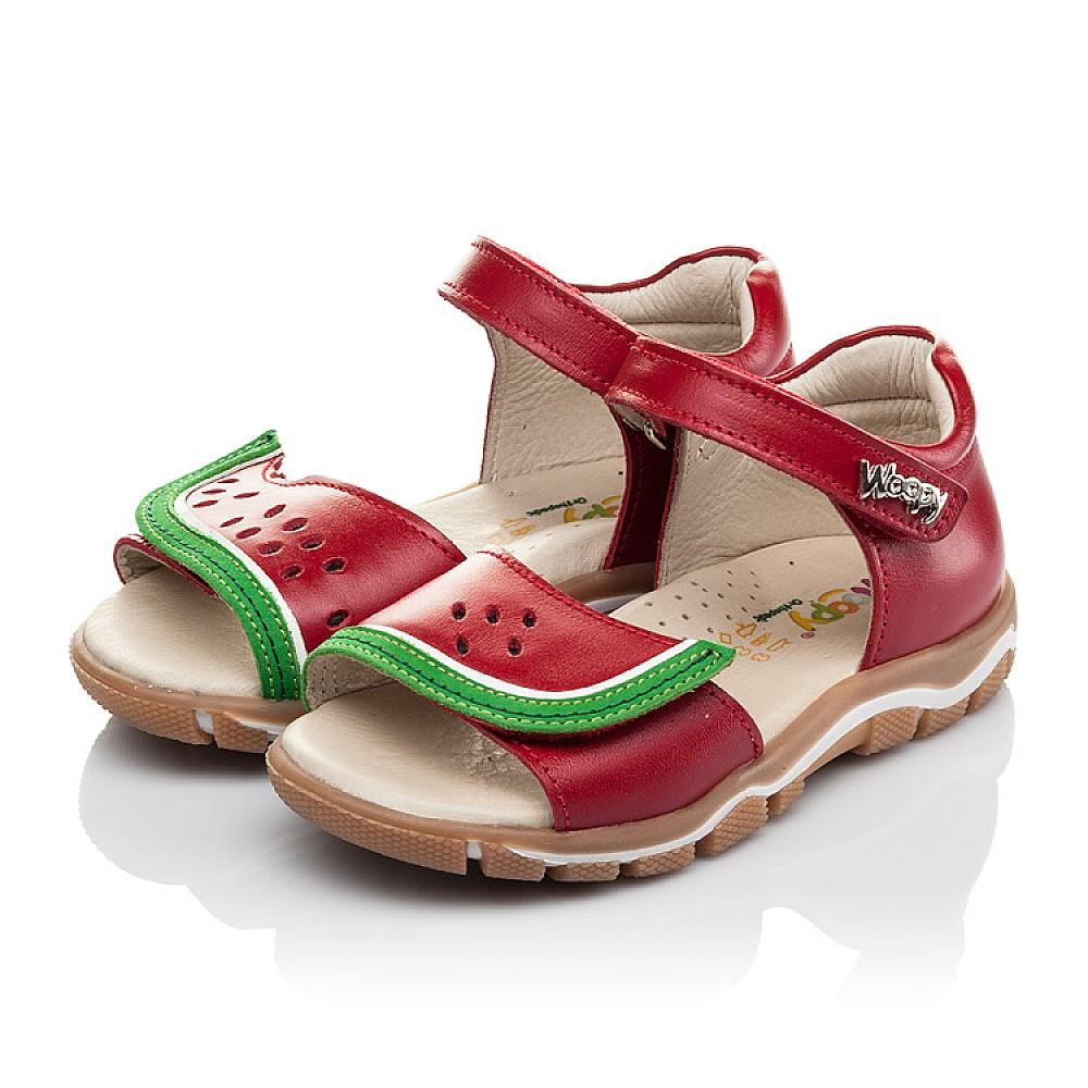 Детские босоножки Woopy Orthopedic красные для девочек натуральная кожа размер 21-26 (4170) Фото 3