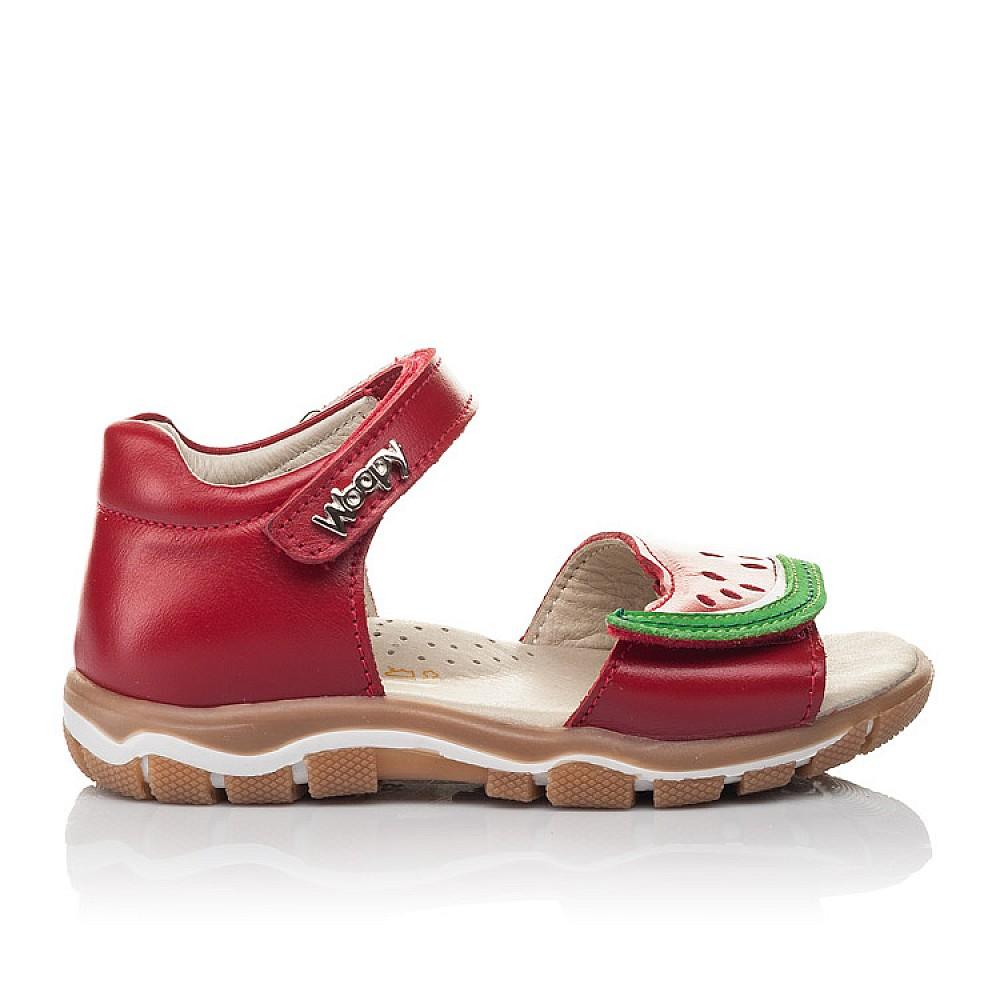 Детские босоножки Woopy Orthopedic красные для девочек натуральная кожа размер 21-26 (4170) Фото 4