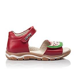 Детские босоножки Woopy Orthopedic красные для девочек натуральная кожа размер 21-30 (4170) Фото 4