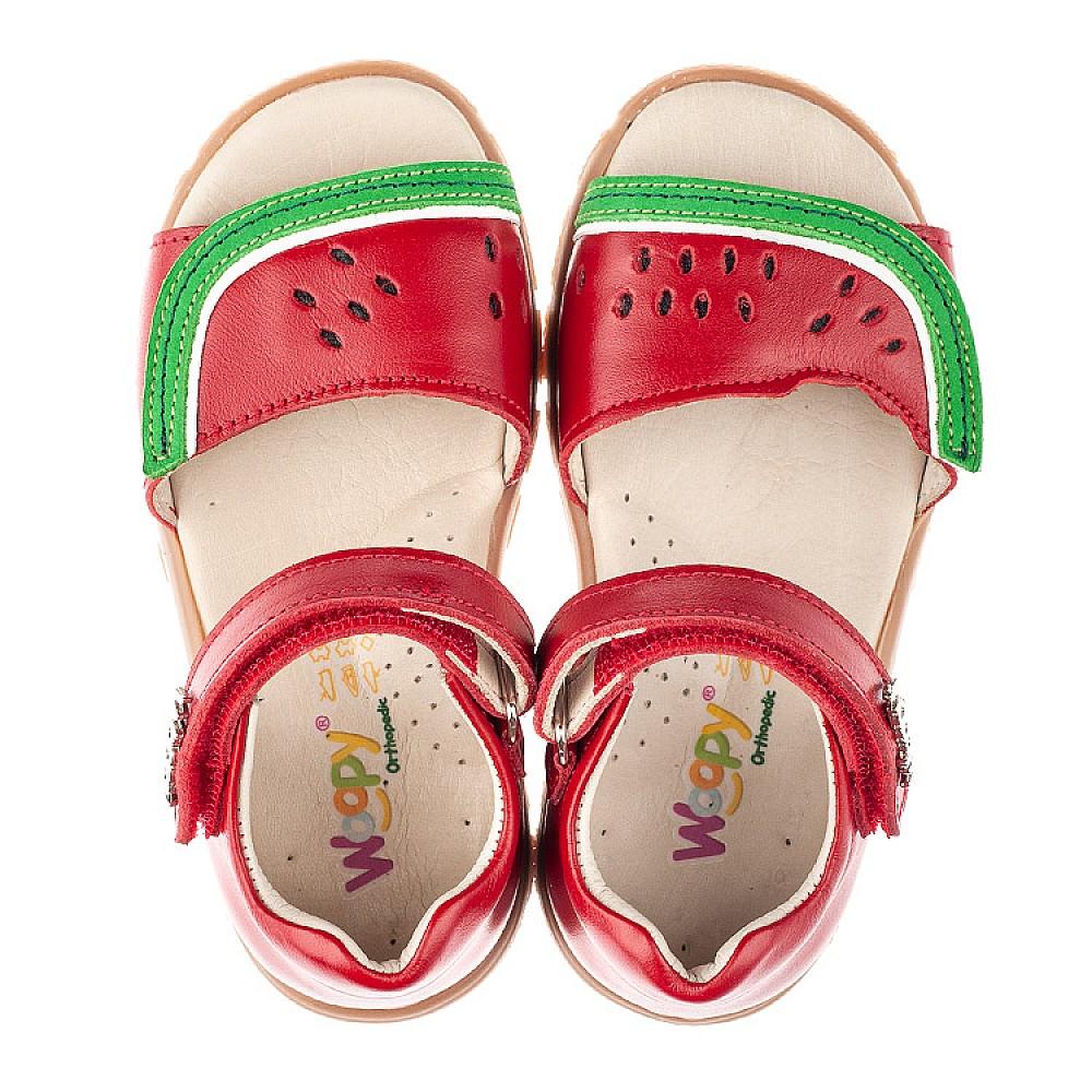Детские босоножки Woopy Orthopedic красные для девочек натуральная кожа размер 21-26 (4170) Фото 5