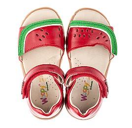 Детские босоножки Woopy Orthopedic красные для девочек натуральная кожа размер 21-30 (4170) Фото 5