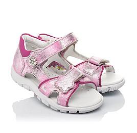 Детские босоножки Woopy Orthopedic розовые для девочек натуральный нубук размер 21-21 (4171) Фото 1