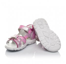 Детские босоножки Woopy Orthopedic розовые для девочек натуральный нубук размер 21-21 (4171) Фото 2