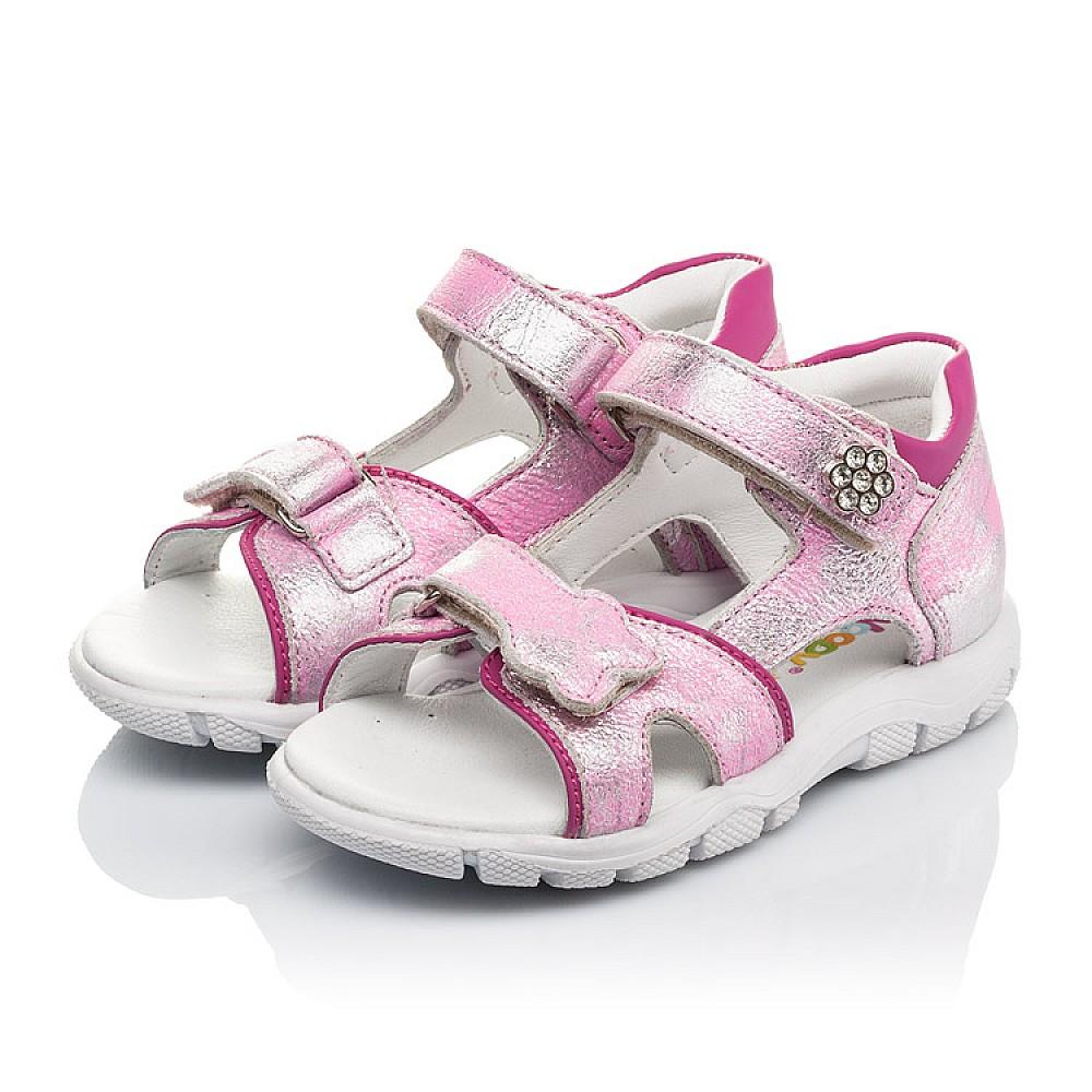 Детские босоножки Woopy Orthopedic розовые для девочек натуральный нубук размер 21-38 (4171) Фото 3