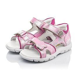 Детские босоножки Woopy Orthopedic розовые для девочек натуральный нубук размер 21-21 (4171) Фото 3
