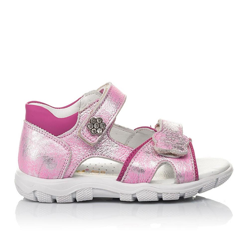 Детские босоножки Woopy Orthopedic розовые для девочек натуральный нубук размер 21-38 (4171) Фото 4
