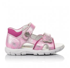 Детские босоножки Woopy Orthopedic розовые для девочек натуральный нубук размер 21-21 (4171) Фото 4