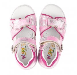 Детские босоножки Woopy Orthopedic розовые для девочек натуральный нубук размер 21-21 (4171) Фото 5