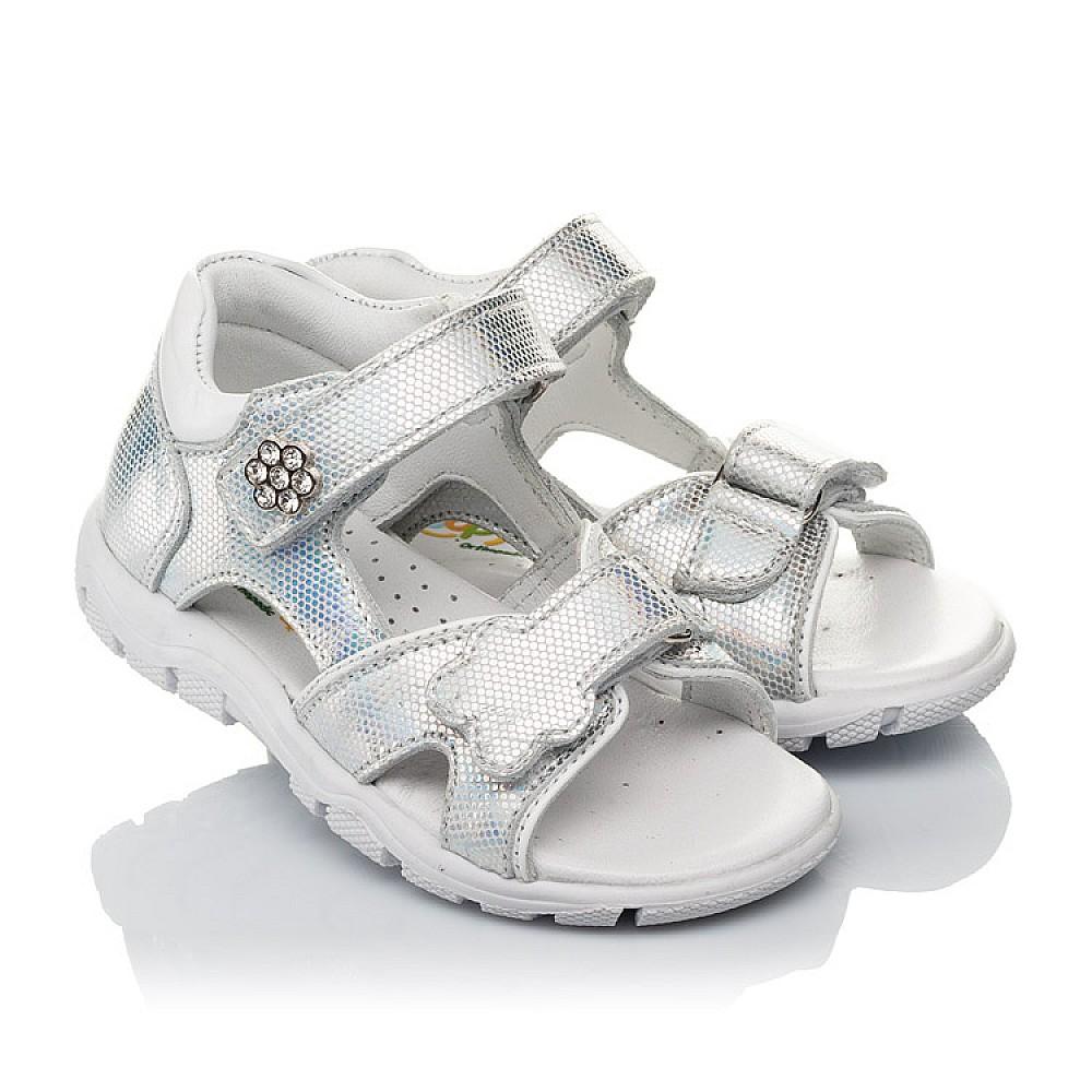 Детские босоножки Woopy Orthopedic серебряные для девочек натуральная кожа размер 21-26 (4174) Фото 1