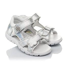 Детские босоножки Woopy Orthopedic серебряные для девочек натуральная кожа размер 21-22 (4174) Фото 1