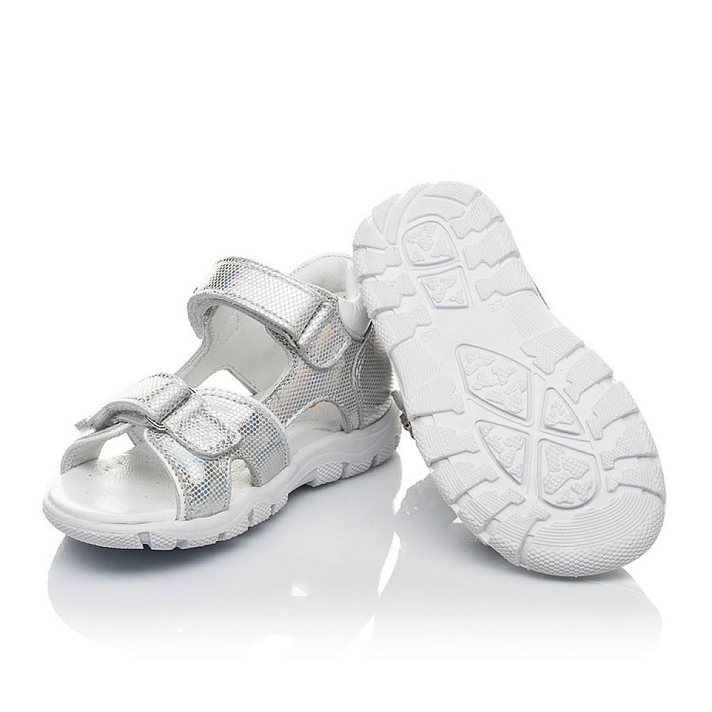 Детские босоножки Woopy Orthopedic серебряные для девочек натуральная кожа размер 21-26 (4174) Фото 2