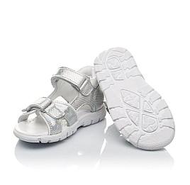 Детские босоножки Woopy Orthopedic серебряные для девочек натуральная кожа размер 21-22 (4174) Фото 2