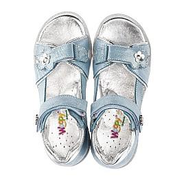 Детские босоножки Woopy Orthopedic синие для девочек натуральный нубук размер 31-34 (4175) Фото 5
