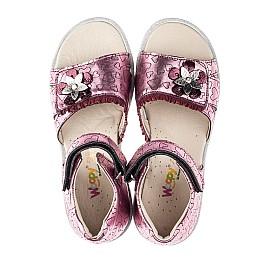 Детские босоножки Woopy Orthopedic розовые для девочек натуральная кожа размер 31-36 (4176) Фото 5
