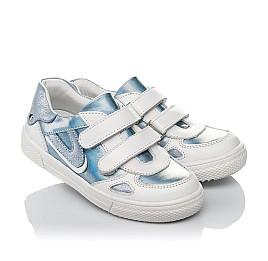 Детские кеды Woopy Orthopedic голубые для девочек натуральная кожа и нубук размер 23-30 (4177) Фото 1