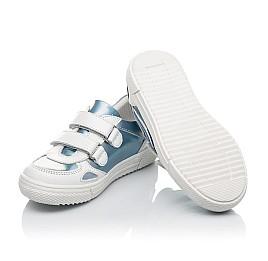Детские кеды Woopy Orthopedic голубые для девочек натуральная кожа и нубук размер 23-30 (4177) Фото 2