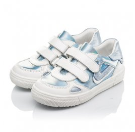 Детские кеды Woopy Orthopedic голубые для девочек натуральная кожа и нубук размер 23-30 (4177) Фото 3