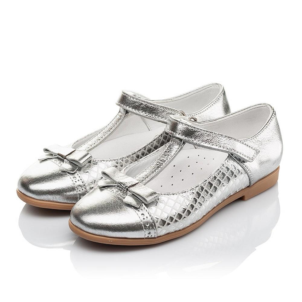 Детские туфли Woopy Orthopedic серебряные для девочек натуральная кожа размер 28-34 (4178) Фото 3