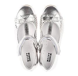 Детские туфли Woopy Orthopedic серебряные для девочек натуральная кожа размер 30-34 (4178) Фото 5