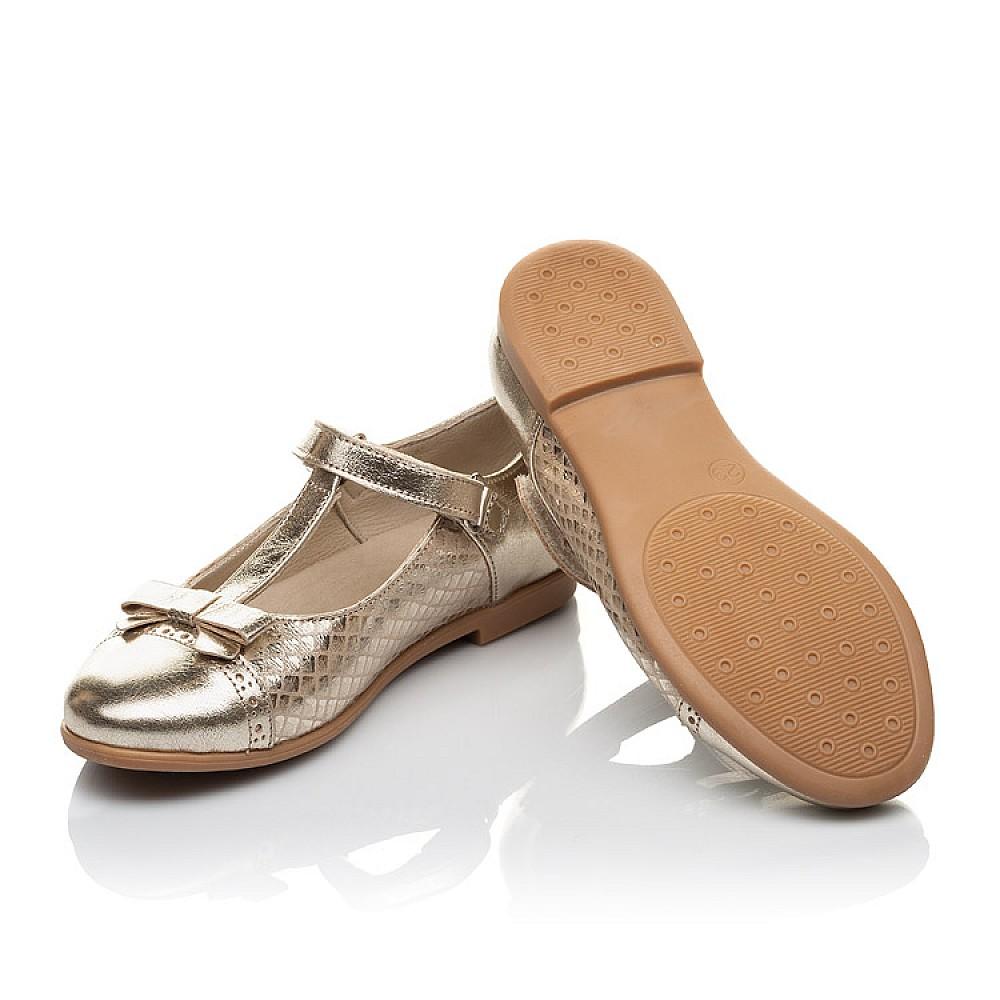 Детские туфли Woopy Orthopedic золотые для девочек натуральная кожа размер 28-34 (4179) Фото 2