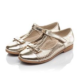 Детские туфли Woopy Orthopedic золотые для девочек натуральная кожа размер 28-34 (4179) Фото 3