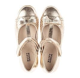 Детские туфли Woopy Orthopedic золотые для девочек натуральная кожа размер 28-34 (4179) Фото 5