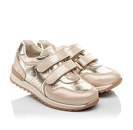 Детские кроссовки Woopy Orthopedic золотые для девочек натуральная кожа и нубук размер 26-26 (4181) Фото 1