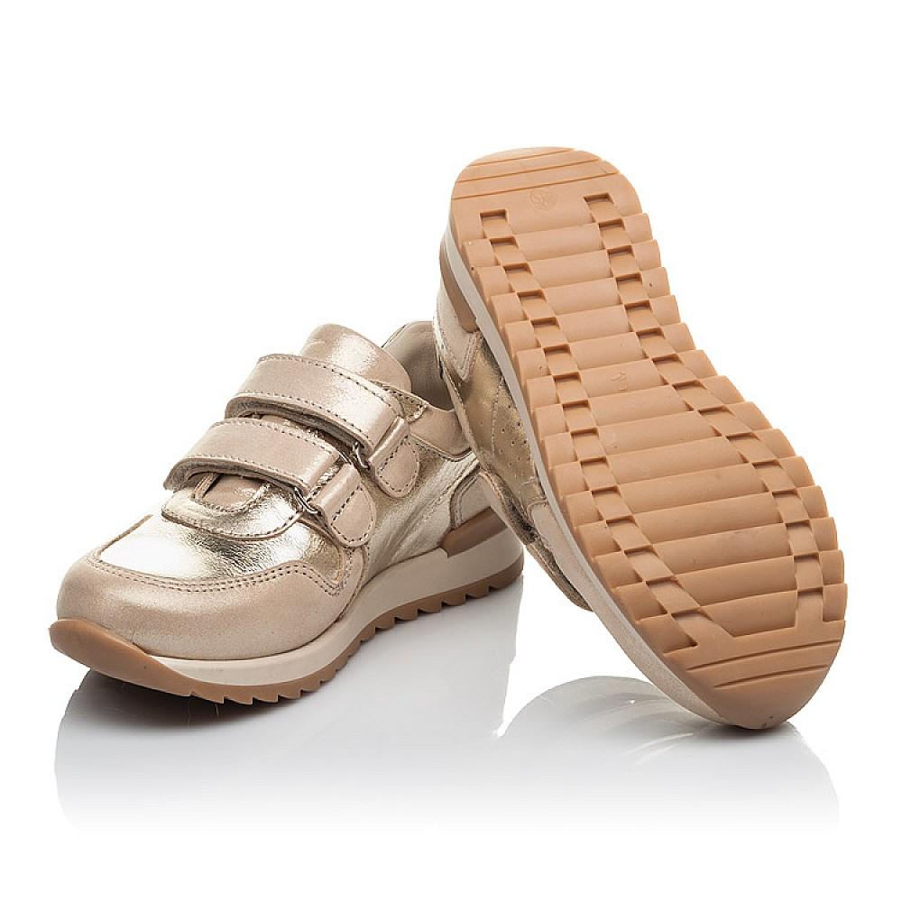 Детские кроссовки Woopy Orthopedic золотые для девочек натуральная кожа и нубук размер 26-26 (4181) Фото 2