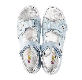 Детские босоножки Woopy Orthopedic голубые для девочек натуральный нубук размер 37-37 (4182) Фото 5