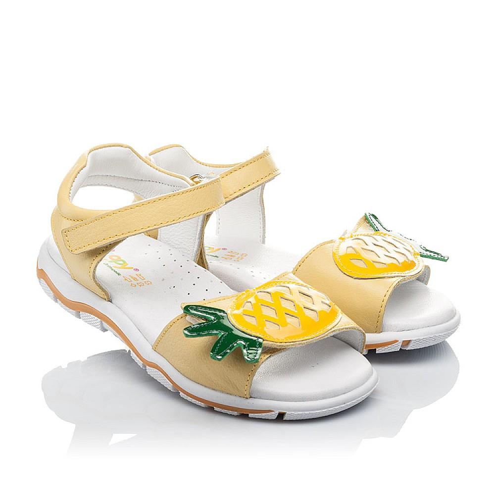 Детские босоножки Woopy Orthopedic желтые для девочек натуральная кожа размер 29-33 (4183) Фото 1