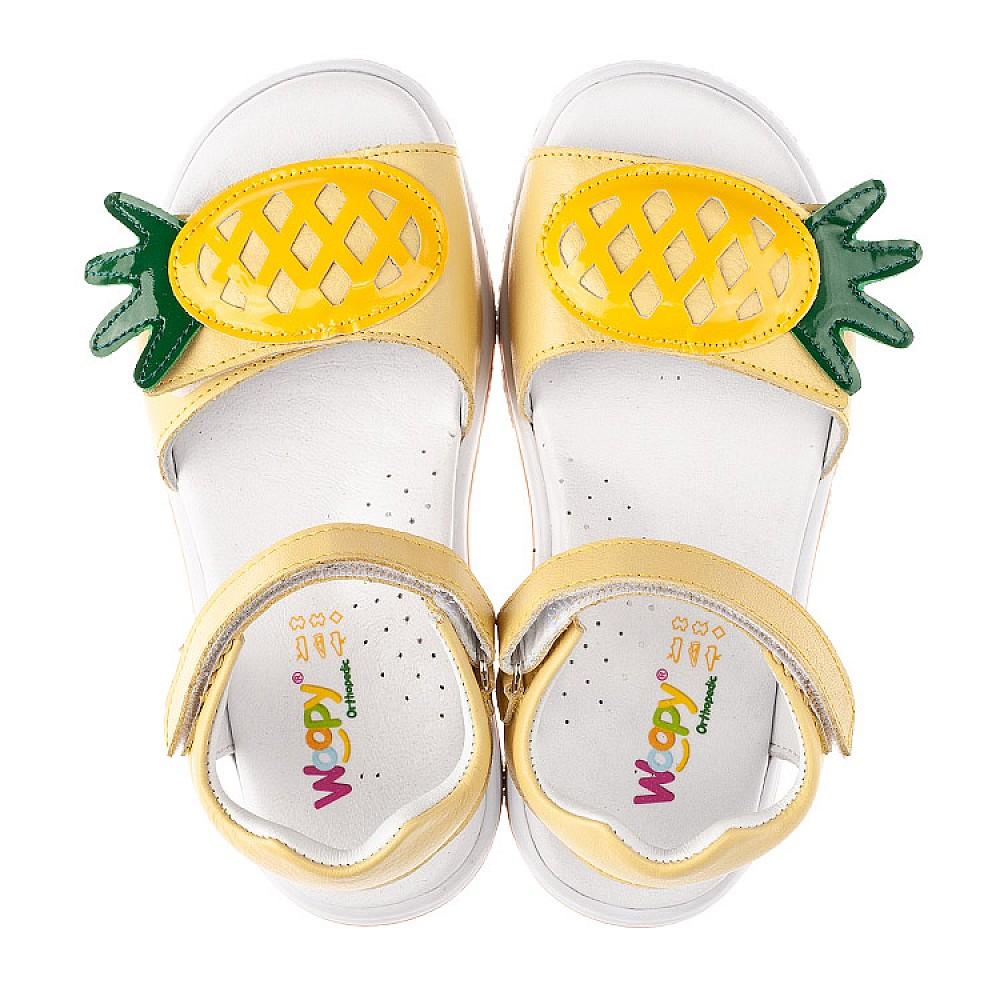 Детские босоножки Woopy Orthopedic желтые для девочек натуральная кожа размер 29-33 (4183) Фото 4