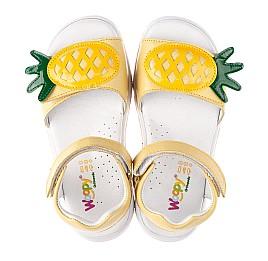 Детские босоніжки Woopy Orthopedic желтые для девочек натуральная кожа размер 29-31 (4183) Фото 4
