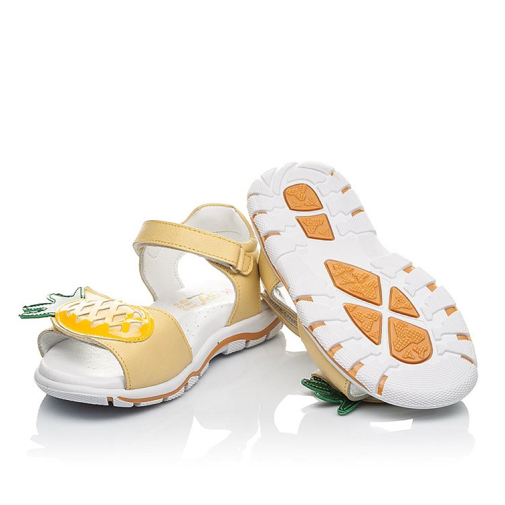Детские босоножки Woopy Orthopedic желтые для девочек натуральная кожа размер 29-33 (4183) Фото 5