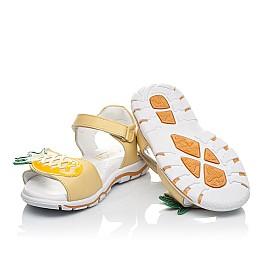 Детские босоніжки Woopy Orthopedic желтые для девочек натуральная кожа размер 29-31 (4183) Фото 5