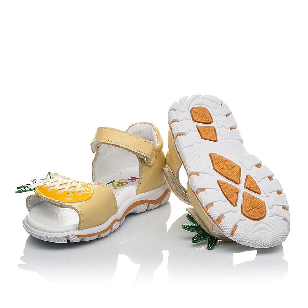 Детские босоножки Woopy Orthopedic желтые для девочек натуральная кожа размер 21-28 (4184) Фото 2