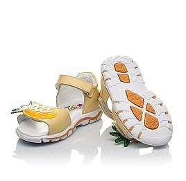 Детские босоніжки Woopy Orthopedic желтые для девочек натуральная кожа размер 21-27 (4184) Фото 2