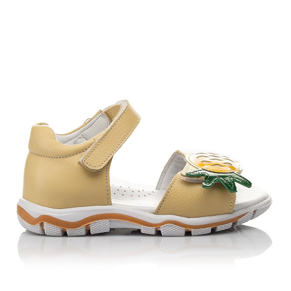 Детские босоножки Woopy Orthopedic желтые для девочек натуральная кожа размер 21-28 (4184) Фото 4