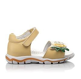 Детские босоніжки Woopy Orthopedic желтые для девочек натуральная кожа размер 21-27 (4184) Фото 4
