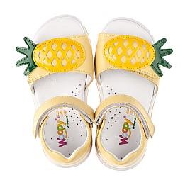 Детские босоніжки Woopy Orthopedic желтые для девочек натуральная кожа размер 21-27 (4184) Фото 5