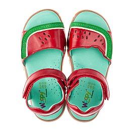 Детские босоножки Woopy Orthopedic красные для девочек натуральная кожа размер 28-28 (4185) Фото 5
