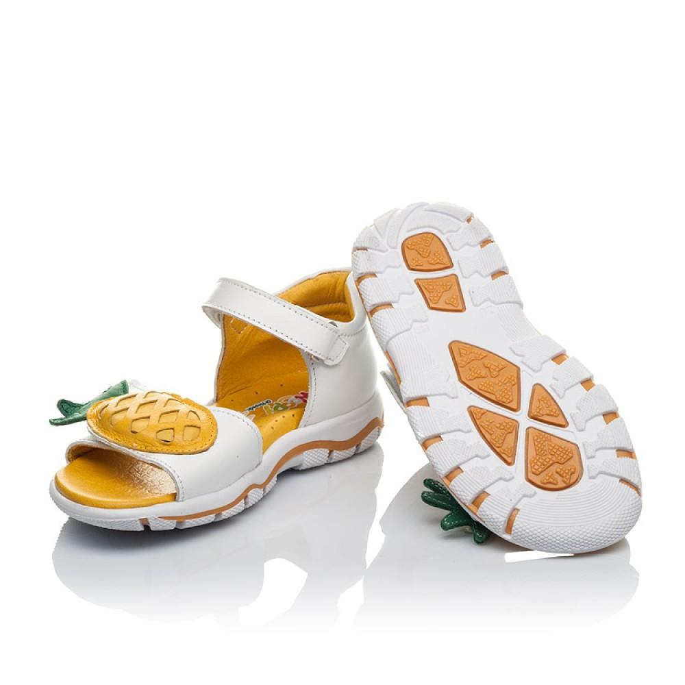 Детские босоножки Woopy Orthopedic белые для девочек натуральная кожа размер 26-30 (4187) Фото 2