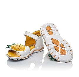 Детские босоніжки Woopy Orthopedic белые для девочек натуральная кожа размер 26-27 (4187) Фото 2