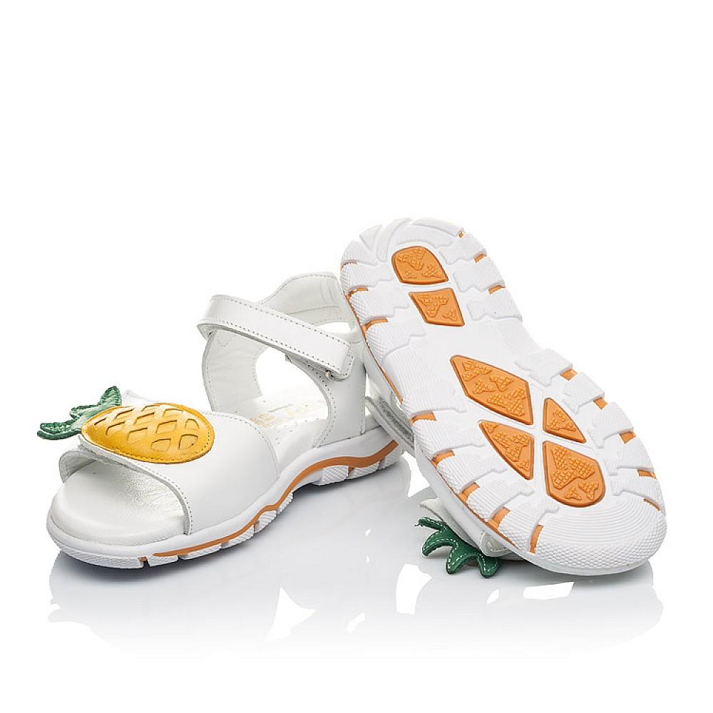 Детские босоножки Woopy Orthopedic белые для девочек натуральная кожа размер 29-33 (4188) Фото 2